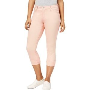 LEE PINK SLIMMING FIT LOW-ROSE CAPRI JEANS 16